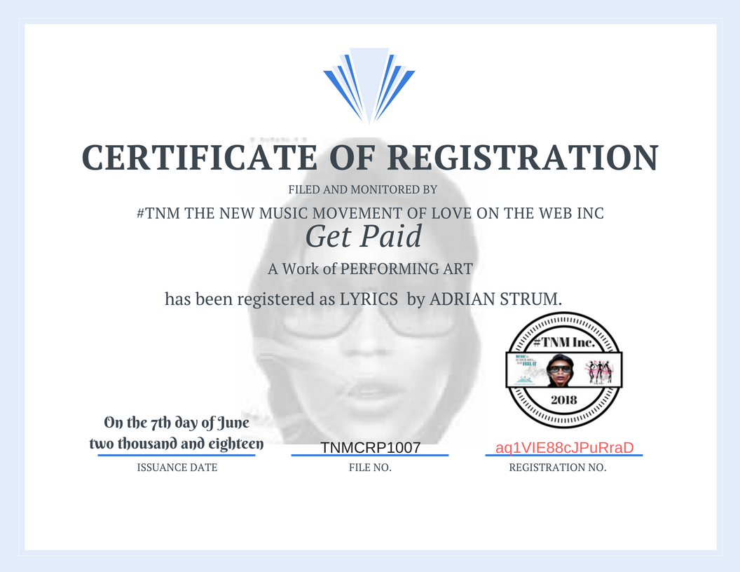 TNMCRP1007 Get Paid Certificate of REGISTRATION-Adrian Strum